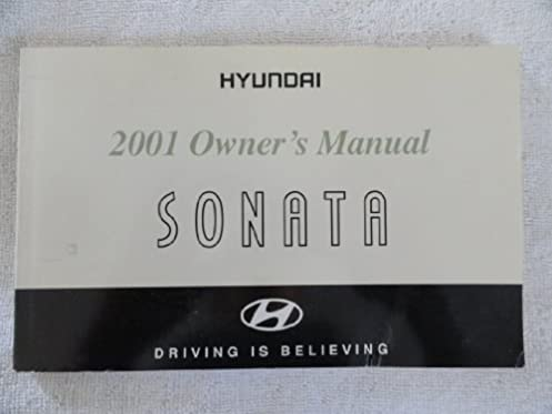 2001 hyundai sonata owners manual hyundai amazon com books rh amazon com 2018 sonata owners manual sonata owners manual 2016