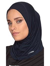 One Piece Stretch Sport Hijab - Navy