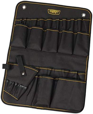 Fenteer 電気技師、建設、木工に適した耐久性のあるオックスフォード布壁ハンガーツールポーチバッグ