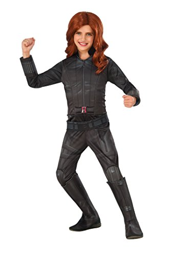Child Black Widow Costume (Rubie's Costume Captain America: Civil War Black Widow Deluxe Child Costume, Small)