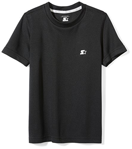 Starter Boys' Short Sleeve Tech T-Shirt, Amazon Exclusive, Black, M (8/10) - Exclusive Black T-shirt
