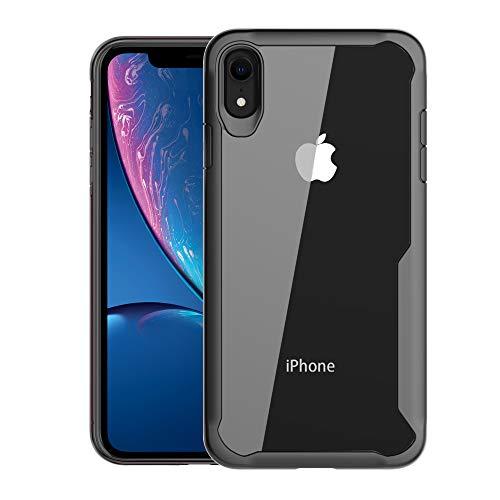 - Olixar iPhone XR Bumper Case - Hard Tough Slim Cover - Clear Back Design for iPhone XR (2018) 6.1