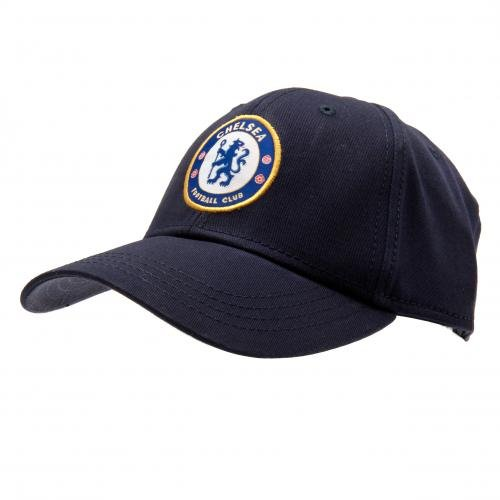 Chelsea FC Crest Baseball Cap - Navy Blue - Adjustable Back - Adult Baseball Cap - Features Team Crest in Full Color - Crest Baseball Cap - Great for any Chelsea FC Soccer Fan ()