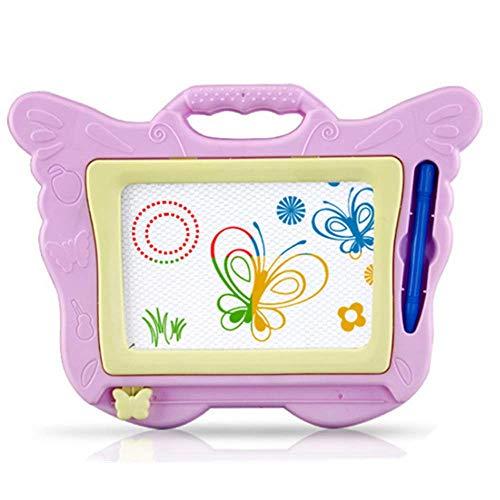 AISIBO 磁気 お絵かきボード 子供用 消去可能 カラフル マグナ落書きボード おもちゃ 学習 スケッチパッド 旅行ギフト 男の子 女の子 ピンク