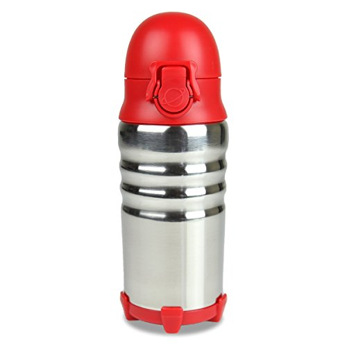PlanetBox BottleRocket Eco-Friendly Stainless Steel Water Bottle for Kids and Adults (Rocket Red) - Rocket Water Bottle