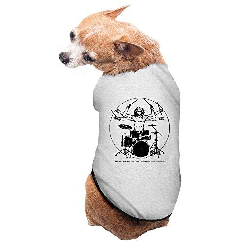 Da Vinci Et Costumes (Fashion Sleeveless Pet Supplies Da Vinci Drummer Rock Punk Hip Hop Dog Costumes Dog Hoodies)