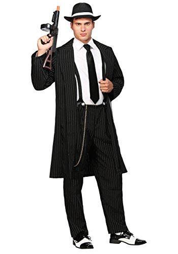 Black Zoot Suit Costume - L (Pinstripe Zoot Suit)