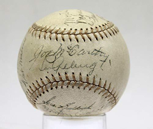 Ny Yankees Team Autographed Baseball - 1936 Ny Yankees Team Signed Oal Baseball Lou Gehrig On Sweet Spot Z32887 - JSA Certified - Autographed Baseballs