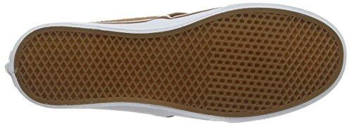 Vans Camden Hi Zip, Zapatillas Altas para Mujer Marrón (Embossed Suede brown)