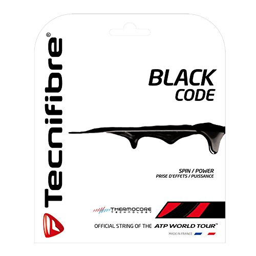 (Tecnifibre Black Code Tennis String Set (16 gauge, 1.28) )