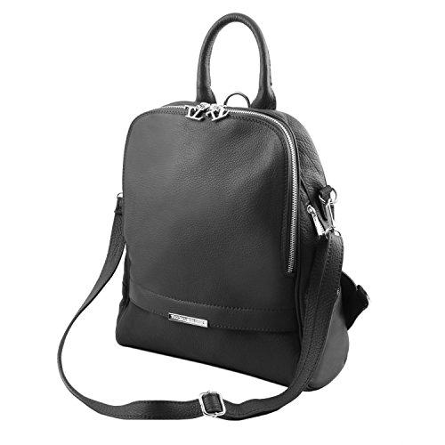 Tuscany Leather - TL Bag - Sac à dos pour femme en cuir souple - Bleu