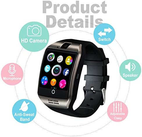 Peakfun Smart Watch,Android Smartwatch Touch Screen Bluetooth Smart Watch for Android Phones Wrist Phone Watch with SIM Card Slot & Camera,Waterproof Sports Fitness Tracker Watch for Men Women Kids