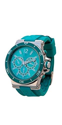 Relojes Calgary Monterosso, Reloj Deportivo para Mujer, Correa Turquesa de Silicona, Esfera Turquesa y Plateada: Amazon.es: Zapatos y complementos