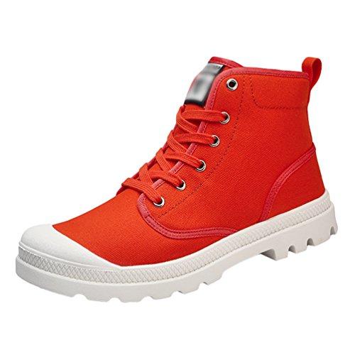 Traspirante Scarpe Arancia Unisex Tela Anguang Alte Guida Sportivo da Sneakers di Stringata Scarpe AZnpWq5p