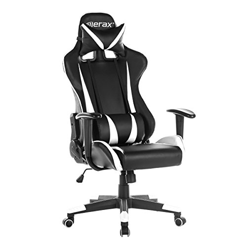Merax-Racing-Gaming-High-Back-Chair-Ergonomic-Design-Computer-Chair-PU-Leather-Home-Office-Chair