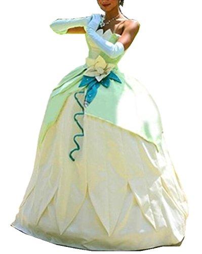 (FENIKUSU Princess Cosplay Costume for Women Adult Halloween Party Ball Gown Deluxe Dress)