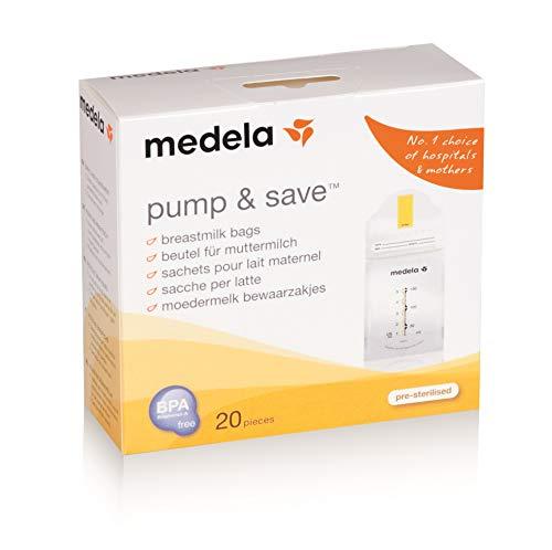 Bolsa para coleta de leite materno Pump & Save - 20 unidades, Medela, Incolor, 150 Ml