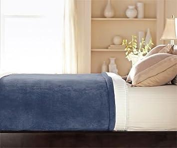 Amazon.com: Sunbeam - Queen Size Heated Blanket Luxurious Velvet ...