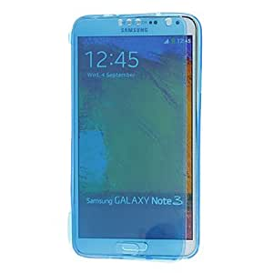 Transparent TPU Pattern Soft Cover Case with Face Cover for Samsung Galaxy Note3 --- COLOR:Black