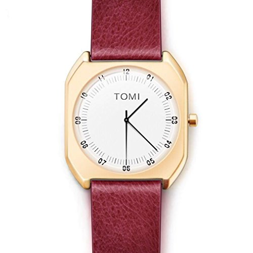 Price comparison product image Simple Retro Square Quartz Watch Bugela Red