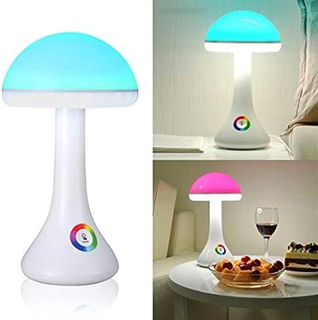 Veilleuse Colorée, Créative Champignon LED Lampe de Table
