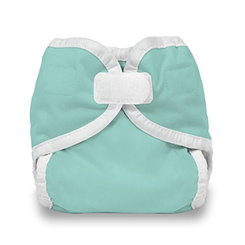 Thirsties Cloth Diaper Cover- Hook & Loop - Aqua - X-Small