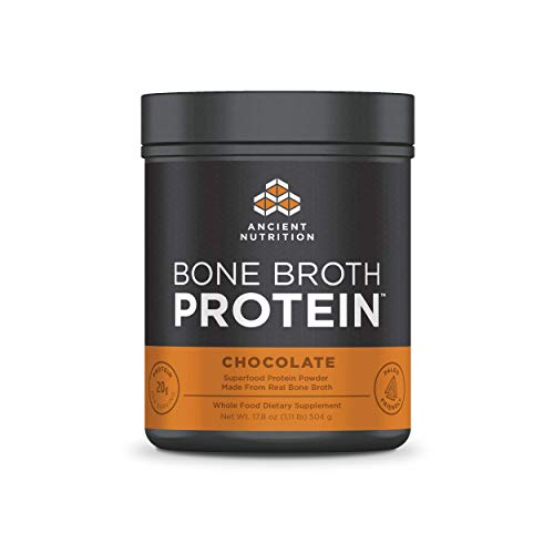 - Ancient Nutrition Bone Broth Protein Powder, Chocolate - Dairy Free, Gluten Free and Paleo Friendly - 20 Servings