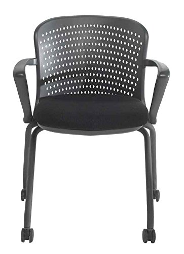 NXO Nesting Chair With Casters In Black (Black)