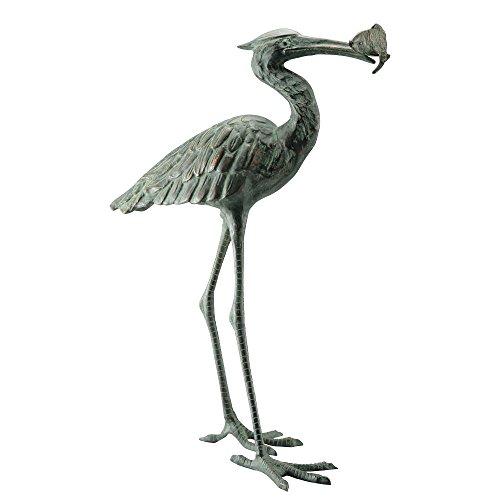 - SPI Home 50606 Garden Single Crane Eating Fish Sculpture