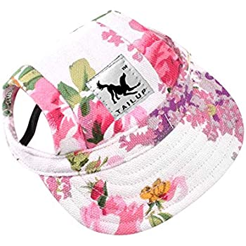 735c11f917202c Happy Hours - Dog Pet Cat Canvas Oxford Fabric Hat Sports Baseball Cap Ear  Holes Sunhat With Adjustable Neck Elastic Leather Rope Strap 6 Colors 2  Sizes ...