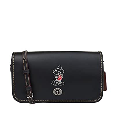 COACH MICKEY Penny Crossbody in Glove Calf Leather Black