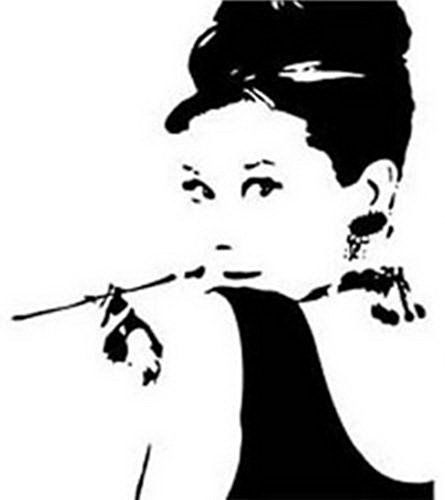 audrey hepburn wall decal - 8