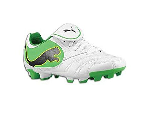 Puma Power Cat Juniors/youths White/green Soccer Cleats (3.5)