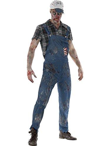 Smiffy's Men's Zombie Hillbilly Costume, Male, Blue, X-Large -