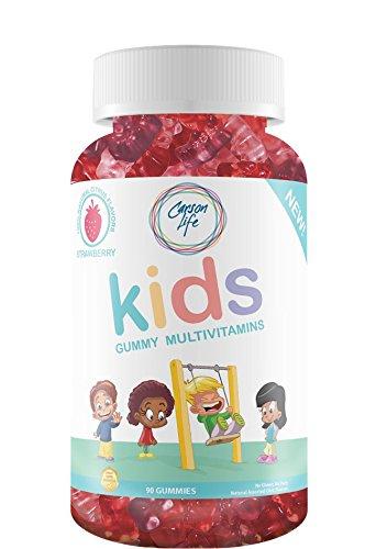 Carson Life Children's Multivitamin Gummy Bears - 90 Gummies - Gluten Free - Vegan - Non-Dairy - Assorted Fruit Flavors