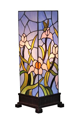 Amora Lighting AM1115TL06 Tiffany Style Floral Table Lamp, Multi