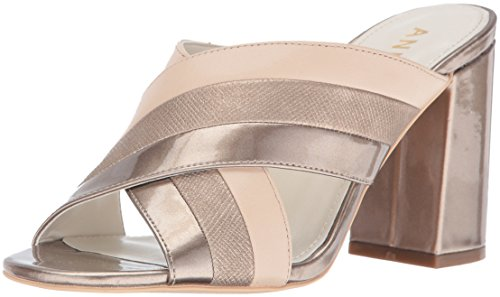 Anne Klein Women's Wileta Synthetic Mule, Light Bronze, 6.5 M - Anne Mules Klein
