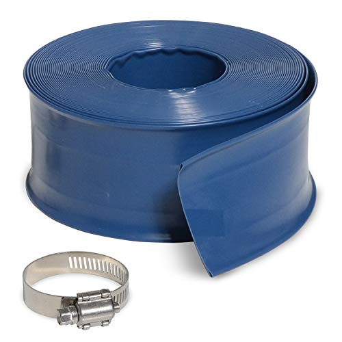 Pool Pump Hose - Milliard 50' Heavy Duty Backwash Hose, Great for Water Disposal - Weather and Chemical Resistant - 2