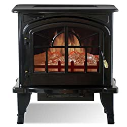 Yosemite DF-EFP888 Clovis Free-Standing Faux Wood Burning Stone Electric Fireplace from Yosemite
