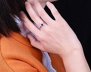 Bracelet en argent avec pendentif en forme de c/œur en cristal pour femme bleu Alliage 16 cm