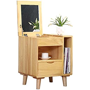Amazon.com: Bedside table Dressers Solid Wood Dressing Table ...