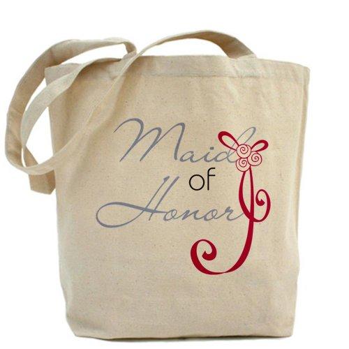 CafePress diseño de lazo boda dama de honor–Gamuza de bolsa de lona bolsa, bolsa de la compra