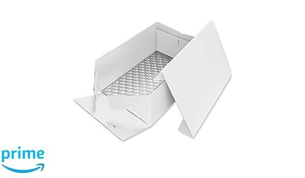 PME Tarjeta de Pastel Alargada y Caja para Pastel 15 x 11 Pulgadas / 38 x 27 cm: Amazon.es: Hogar