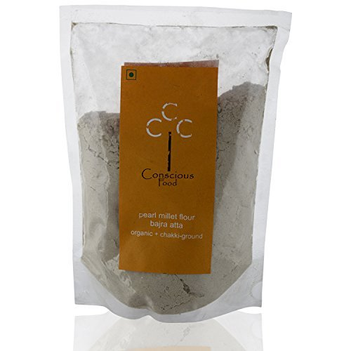 Conscious Food Organic Pearl Millet Flour Bajra, 500 grams by CONSCIOUS FOOD
