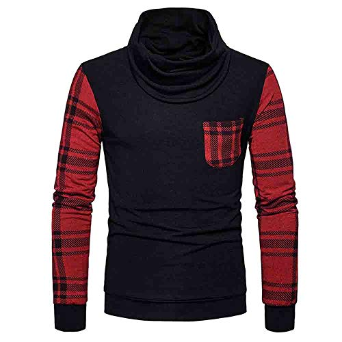 335eacad398e2 SUJING Mens Casual Pullover Sweaters Crew Neck Long Sleeve Sweater Tops  (Black
