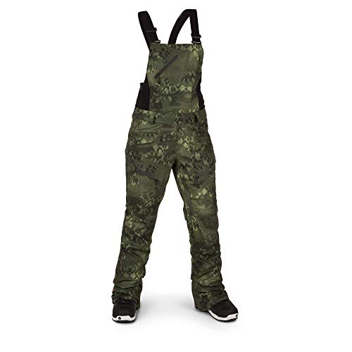 Volcom Women's Elm Gore-Tex Bib Overall Snowpant, Camouflage, Large