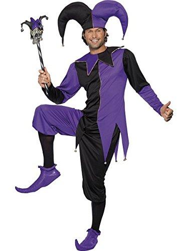 Medieval Jester Costume - Medium - Chest Size 38-40 (Jester Costume)