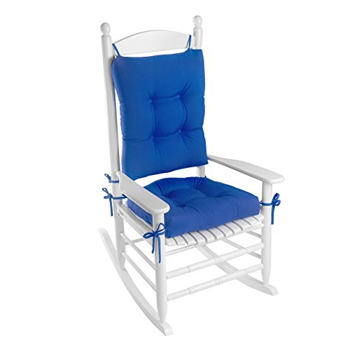 Klear Vu Indoor/Outdoor Rocking Chair Pads Set, Marine Blue
