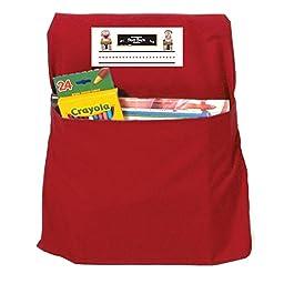 O2 Teach SSK00112RDBN PreK-1 Seat Sack, Small, Red, MultiPk 2 Each
