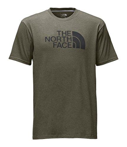 - The North Face Men's Short Sleeve Half Dome Tee - Burnt Olive Green Heather & Asphalt Grey - M (Past Season)